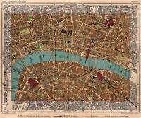 CITY OF LONDON. Southwark Bermondsey Holborn Waterloo Borough 1932 old map