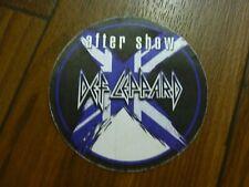 Def Leppard After Show X Tour 2002 2003 Backstage Concert Pass