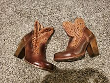 Bed Stu Irma Tan Laser Cut Heeled Boots 9