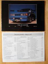 FORD XR Centre 1984 brochure + price list XR2 XR3 XR3i RS 1600i Capri 2.8i Kamei