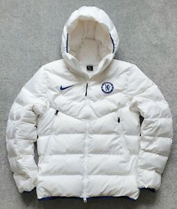 NIKE OFFICIAL 2020/21 CHELSEA FC WHITE DUCK DOWN FILLED PUFFER JACKET - MEDIUM