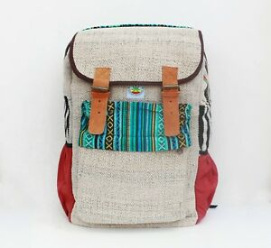 Laptop Bag Hemp backpack rucksack - Handmade and Eco-friendly bag to school