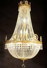 EMPIRE KRISTALL KRONLEUCHTER 10-FLAME CHANDELIER KORBLÜSTER LAMPE DECKENLEUCHTER