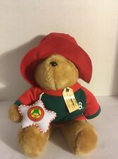 Sears Kids Gifts Paddington Bear Plush with 1995 Dated Christmas Ornament