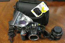 Nikon D D5500 24.2MP Digital SLR Camera Black Kit w/AF-S Nikkor 50mm 1:18G Lens