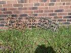 Vintage Authentic Cast Iron Garden Border Lawn Edging Wrought Iron Fence Salvage