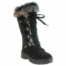 Mammal Lucia OC Black Womens Winter Snow Boots With Anti Slip Spikes