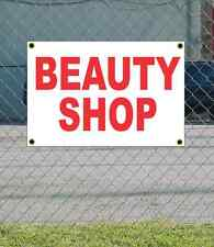 2x3 BEAUTY SHOP Red & White Banner Sign NEW Discount Size & Price FREE SHIP