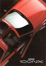 Nissan 100 NX Prospekt NL 1992 1/92 Autoprospekt prospectus brochure broschyr