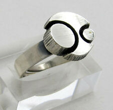 MODERNIST DESIGN RING Silber STEN & LAINE Finnland 925 Sterling Silber