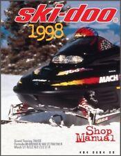 1998 Ski-Doo Grand Touring - Formula III - Mach 1 Service Repair Shop Manual CD