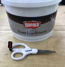 Rapala braided/mono line scissors stainless steel serrated blades/white handles