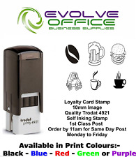 More details for loyalty card rubber stamp 10mm various images ready made 1st class post trodat