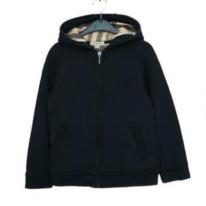 "BURBERRY Kids: Navy Blue & ""Nova Check"" Logo Hoodie/Sweatshirt Sz: 8Y/126cm"