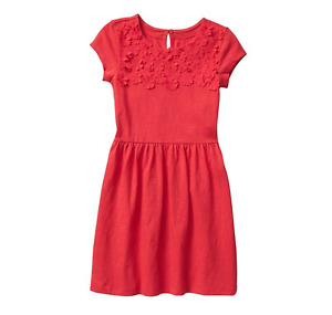 Gap Factory Floral-applique dress Spitfire Size Large 10-11 Style 417072 J