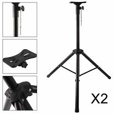 2X PA Speaker Tripod Stand Adjustable Height High Quality Steel Tube DJ Disco