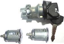 NEW Ignition Switch Lock Cylinder + 2 (Pair) Door Lock Cylinder W/2 Keys - SET