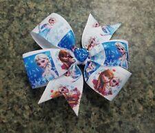 Disney frozen elsa & anna pinwheel hair bow toddler girl nonslip alligator clip