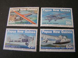 PAPUA NEW GUINEA, SCOTT # 598-601(4),1982 COMPLETE SET ANIMAL SERVICE ISSUE MNH