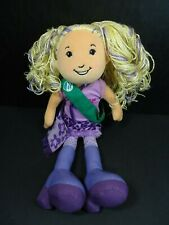 "Groovy Girls Girl Scout Respectful Roxi Doll Plush 13"" Blonde Purple Hair"