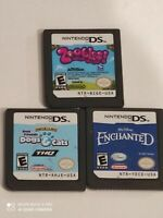 Zoobles Spring to Life, Enchanted & Dogs &CATS Nintendo DS Cartridge Only TESTED