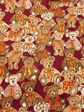 1/2metre Teddy Bear 100% Cotton craft Quilting Fabric