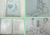 LOC Euroloc Version 87 Hubwagen Betriebsanleitung Ersatzteilliste Manual Parts
