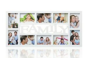Family Multi Aperture Photo Picture Frame - Holds 10 X 6''X4'' Photos