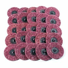 "25pc- 3"" Medium Maroon Roloc Quick Change Surface Conditioning Prep Sanding Disc"