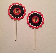 Nhl Chicago Black Hawks Cupcake Toppers - Black Hawks Birthday Party Decoration