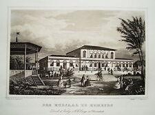 Bad Homburg am Taunus Kursaal   Hessen  echter alter Stahlstich 1850