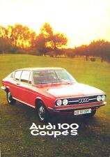 Audi 100 Coupe S Mk1 1975/6 Original UK Market Sales Brochure No. 599/119.005.29