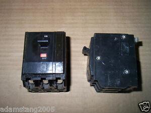 SQUARE D QO QO315 3 POLE 15 AMP CIRCUIT BREAKER BLACK SNAP IN BLACK