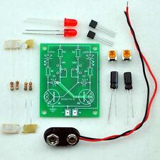 Adjustable Transistor Astable Multivibrator Circuit Learn Kit, LED Flashing. B