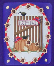 3X PURPLE T SHIRT FOR RED HAT LADIES OF SOCIETY W/ HAPPY FALL SCENE W/ PUMPKINS
