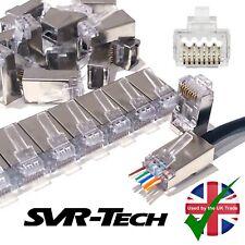25 x SVR-Tech Pro RJ45 Cat6 CAT6a EZ Pass Through Connector Shielded STP