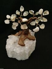 CRISTALLO di quarzo Albero Bonsai Gem curativi Feng Shui Gemstone guarigione Reiki NEW AGE