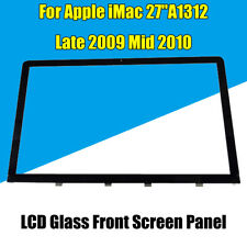 "Black LCD Glass Front Screen Panel for 27"" Apple iMac A1312 Late 2009 Mid 2011"