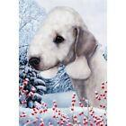 Winter House Flag - Bedlington Terrier 15132