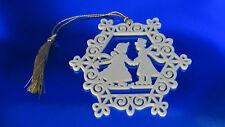 Lenox Victorian Silhouette Pierced Skaters Ornament in Box (1Zff)