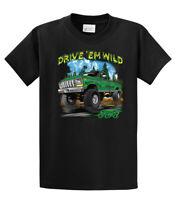 Mens Ford Motors T Shirt Drive 'Em Wild 4x4 Truck Classic Vintage Cars Trucks