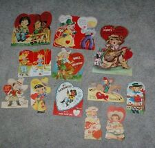 12 different 1930's-1960's Cowgirl Cow girl Gal Valentines Mechanical & Large