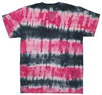 Black & Red TIE DYE T SHIRT Stripes Tye Die Tshirt Festival Top Rainbow Rave