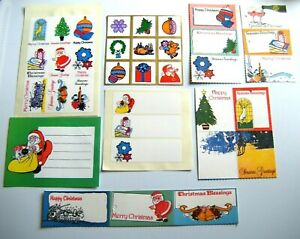 35 Original 1960s / 70's Vintage CHRISTMAS Gift Tags, Labels, Seals RETRO KITSCH