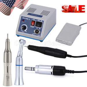 US Stock Dental Marathon Micro Motor 35K rpm N3/ Straight Contra Angle Handpiece