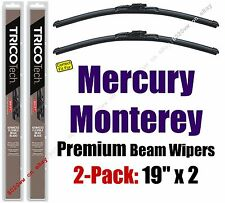 Wipers 2 Pack Premium Wiper Beam Blades - fit 1970 Mercury Monterey - 19190x2