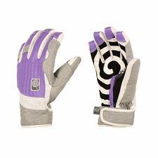 """Candygrind """"Cg Glove"""" Leather Snowboard Gloves Purple (Xs) + Burton Sticker"""