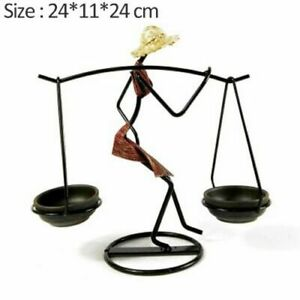 Candle Holder Decorative Girl Character Table Candlestick Modern Home Decoration