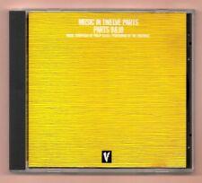 RARE CD ★ PHILIP GLASS - MUSIC IN TWELVE PARTS 9 ,10 ,11 & 12 ★ ALBUM