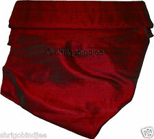 100% Pure Dupioni Silk Hand Loom Fabric From India Selling By Yard SUK Maroon